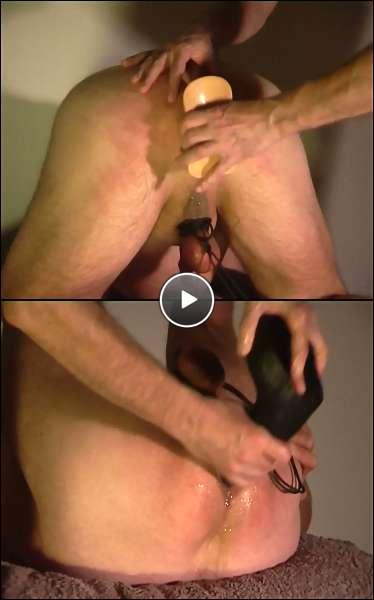 gay masturbation dildo video